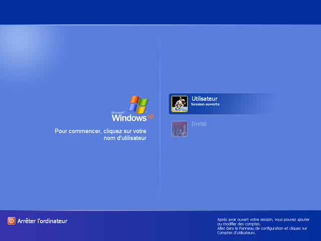 Logon Screen de Windows XP