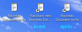 Raccourcis Windows XP