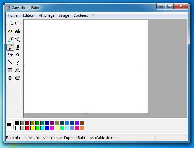 Le Paint de Windows XP sous Windows 7