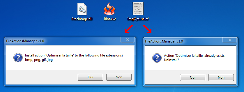 File Actions Manager : Installer une action
